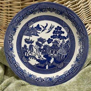 "Platter Churchill Blue Willow Round Platter 12.75"""